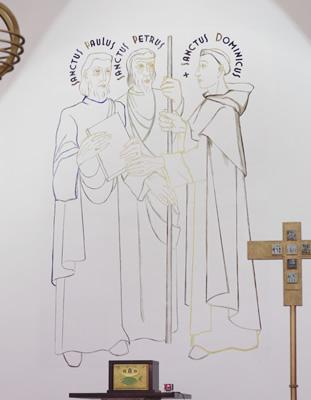 大聖堂祭壇中央の壁画