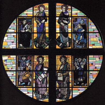大円窓ステンドグラス